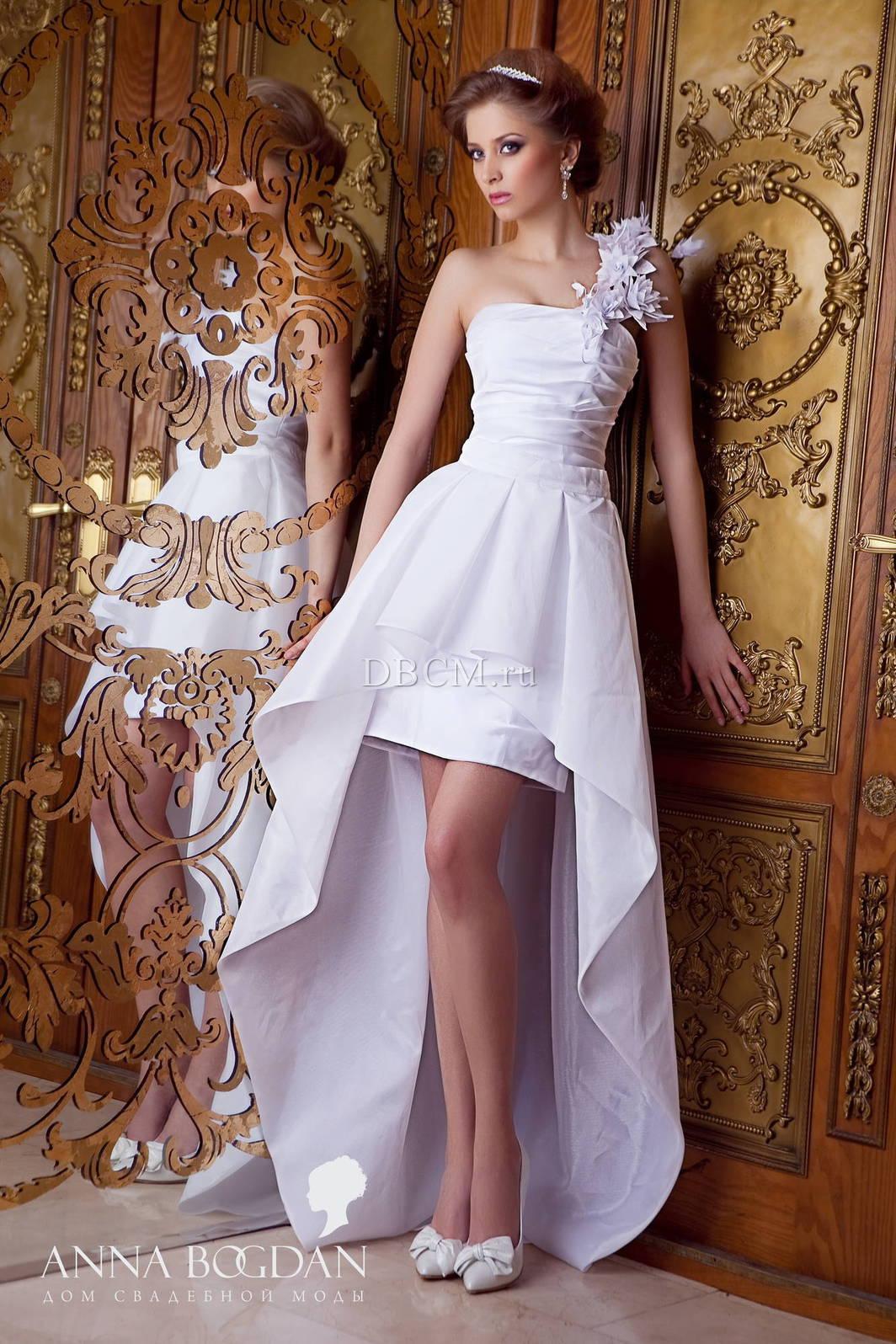Короткие свадебные платья со