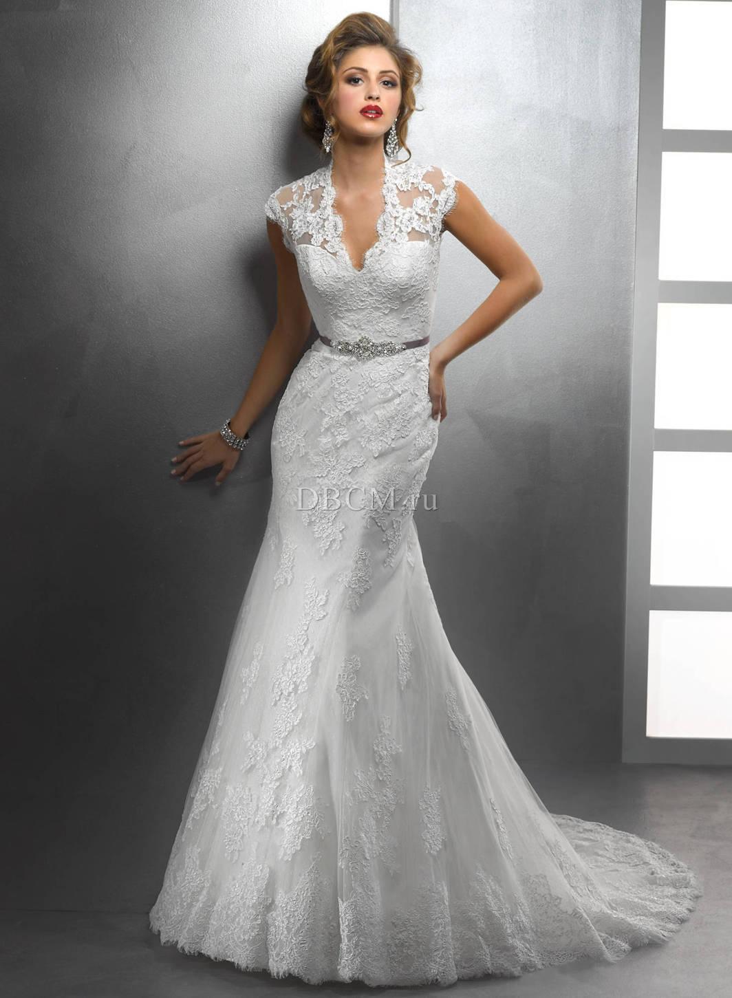 фото свадебное платье рыбка