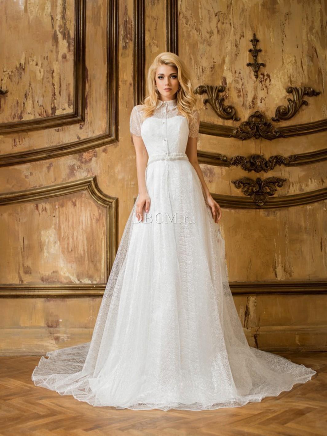 Свадебные платья с жемчугам с
