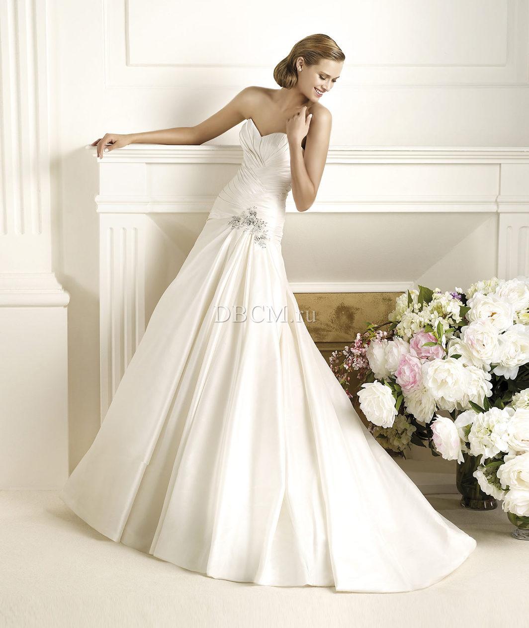 свадебные платья с лифом американка