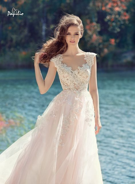 Papilio 1748L Hornbill wedding dress. Wings of Love collection
