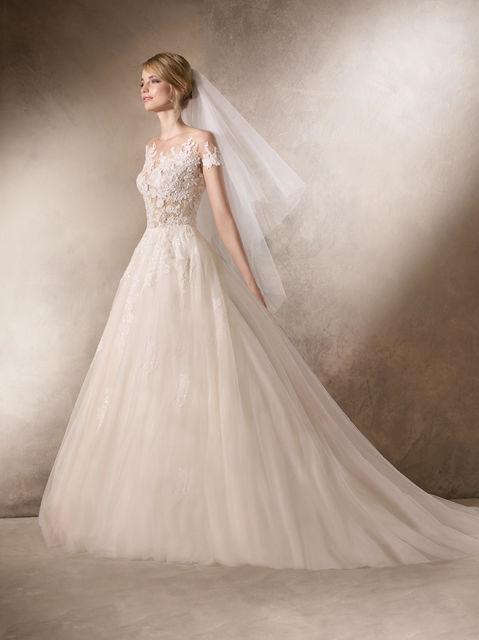 vestido de novia de la sposa hairnold. colección wedding dresses 2017