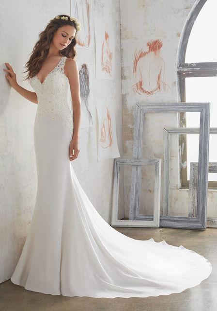 vestido de novia de mori lee 5508. colección blu 2017
