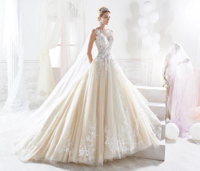 vestido de novia de nicole niab18093. colección nicole 2018