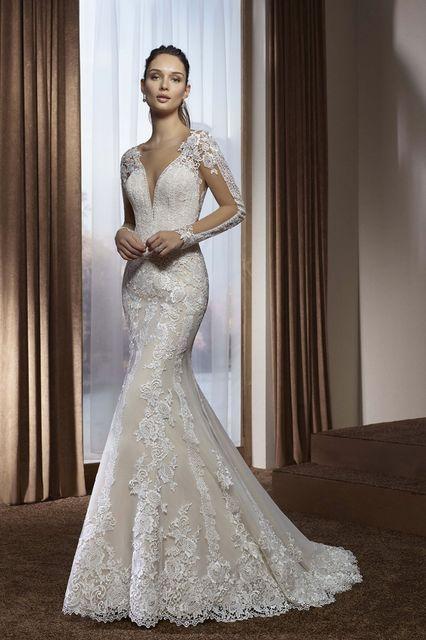 vestido de novia de divina sposa 182-18. colección 2018