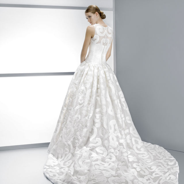 vestido de novia de jesus peiro 4083. colección costuras