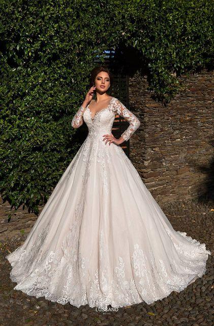 Свадебные платья с длинным подолом