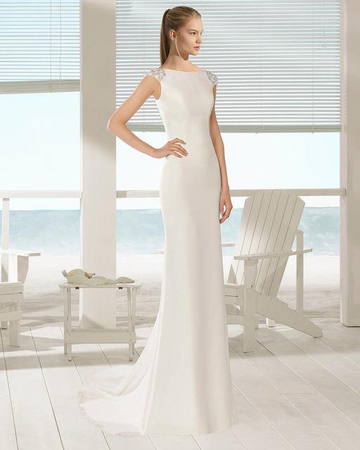 dabc585e Vestido de novia de Aire Barcelona 1F148 Xoana. Colección Aire Beach ...
