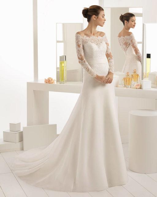 vestido de novia de aire barcelona 2c191 bilma. colección aire 2018