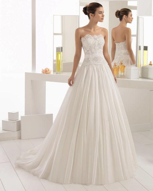 vestido de novia de aire barcelona 2c185 beth. colección aire 2018