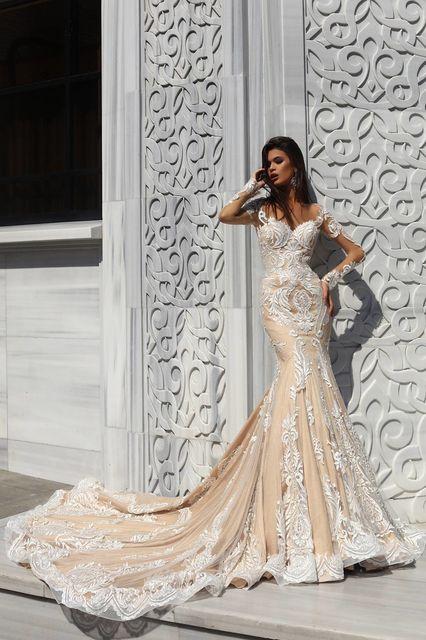 vestido de novia de pollardi 3124-hurrem. colección istanbul