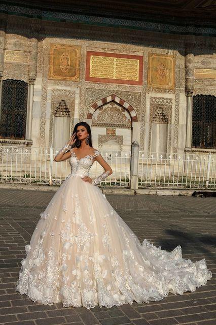 vestido de novia de pollardi 3141-melek. colección istanbul