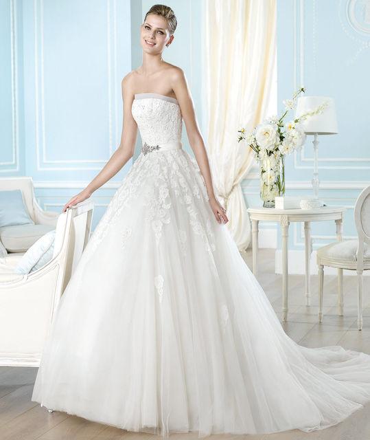 vestido de novia de st. patrick argelia. colección glamour 2014