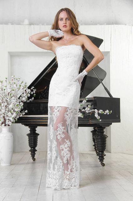 Прямое платье с корсетом