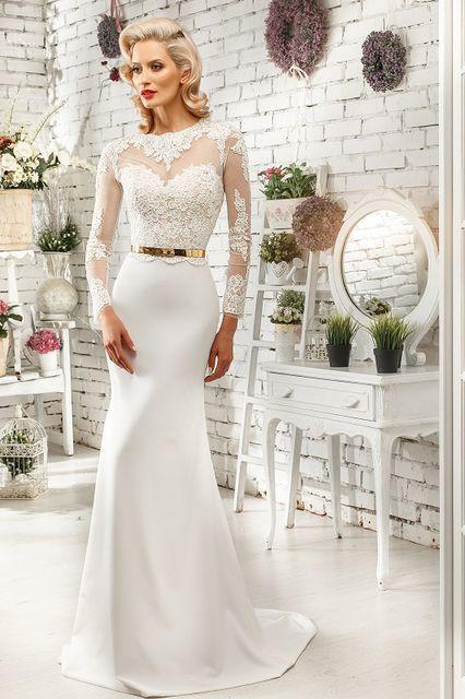 Свадебные платья с прямым верхом