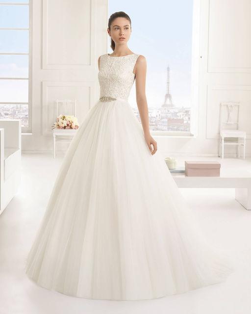 vestido de novia de rosa clara 9a110 edurne. colección tworosa