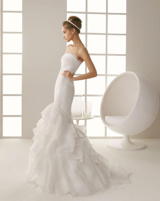 Satin mermaid wedding dress 2013
