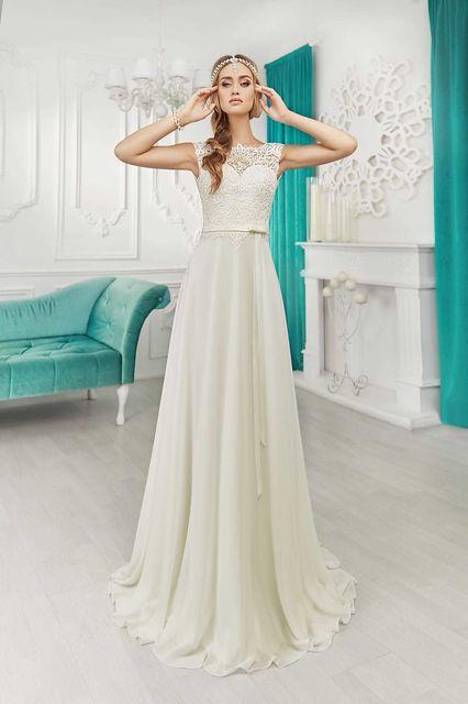 vestido de novia de la petra fiona. colección inital
