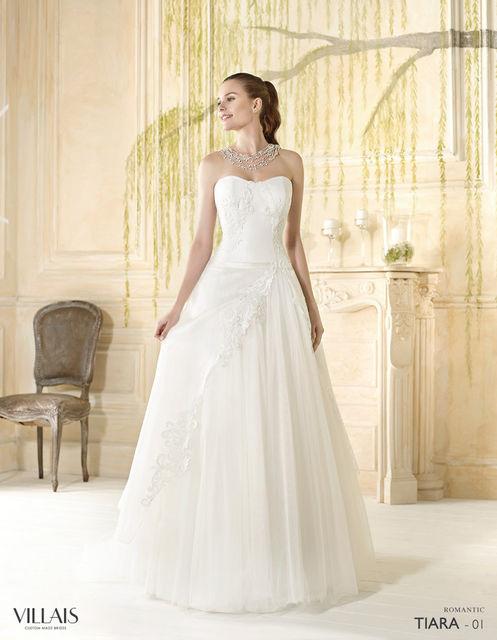 vestido de novia de villais tiara. colección romantic 2016