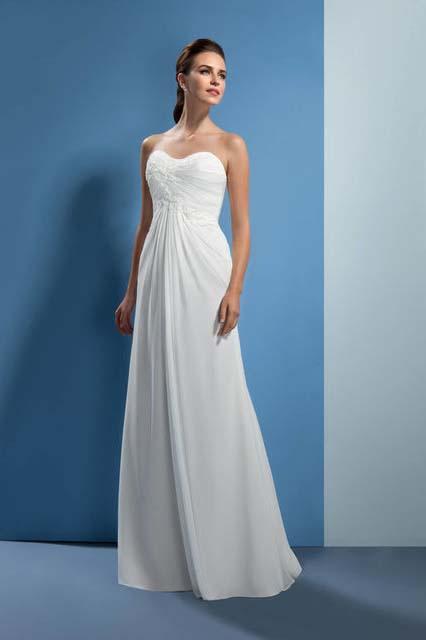 фасон ампир фото свадебного платья