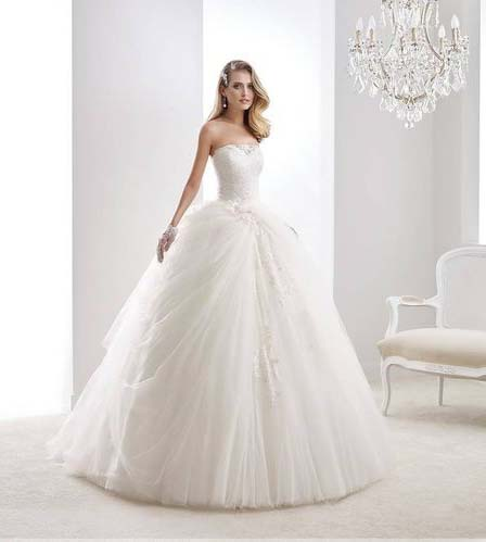 фото пышного свадебного платья бального фасона