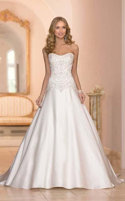 фото свадебного платья А-силуэта в стиле принцесса
