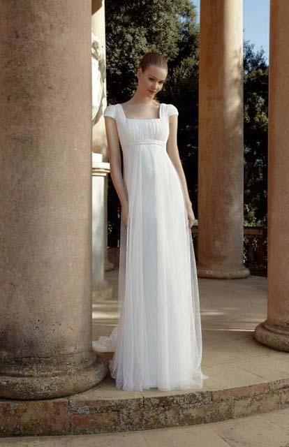 фото свадебного платья фасона ампир