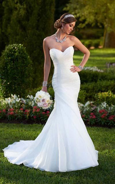 фото свадебного платья фасона рыбка