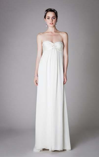 фото свадебного платья в стиле ампир