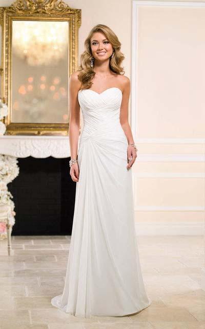 прямое свадебное платье фасона колонна